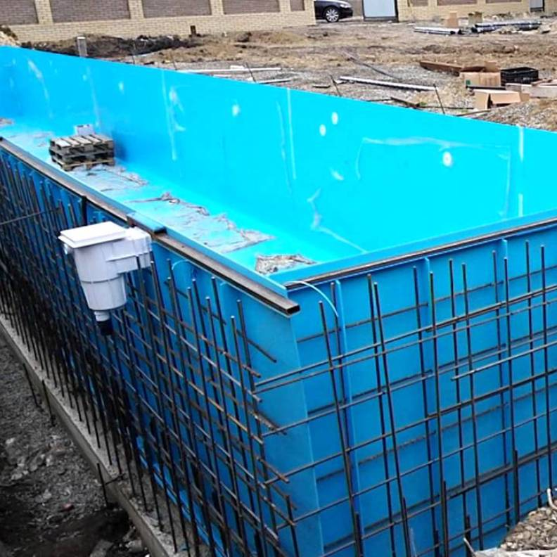 Reinforcement of swimming pools
